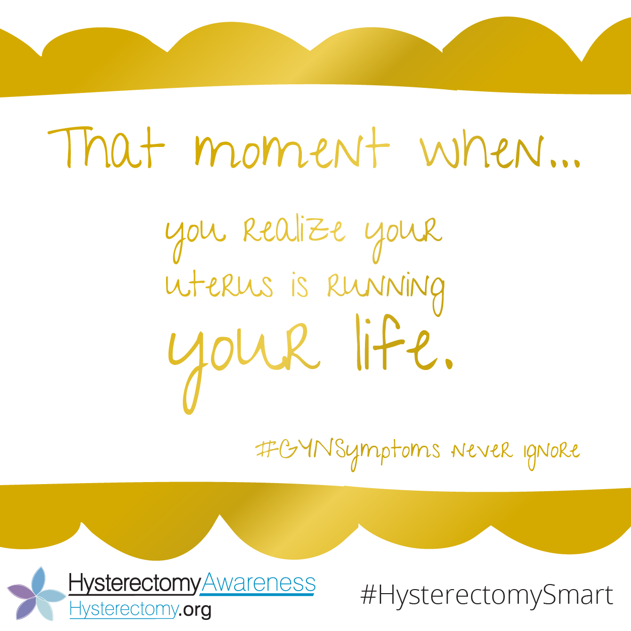 The moment you realize your uterus is running your life. #GYNSymptoms never ignore.