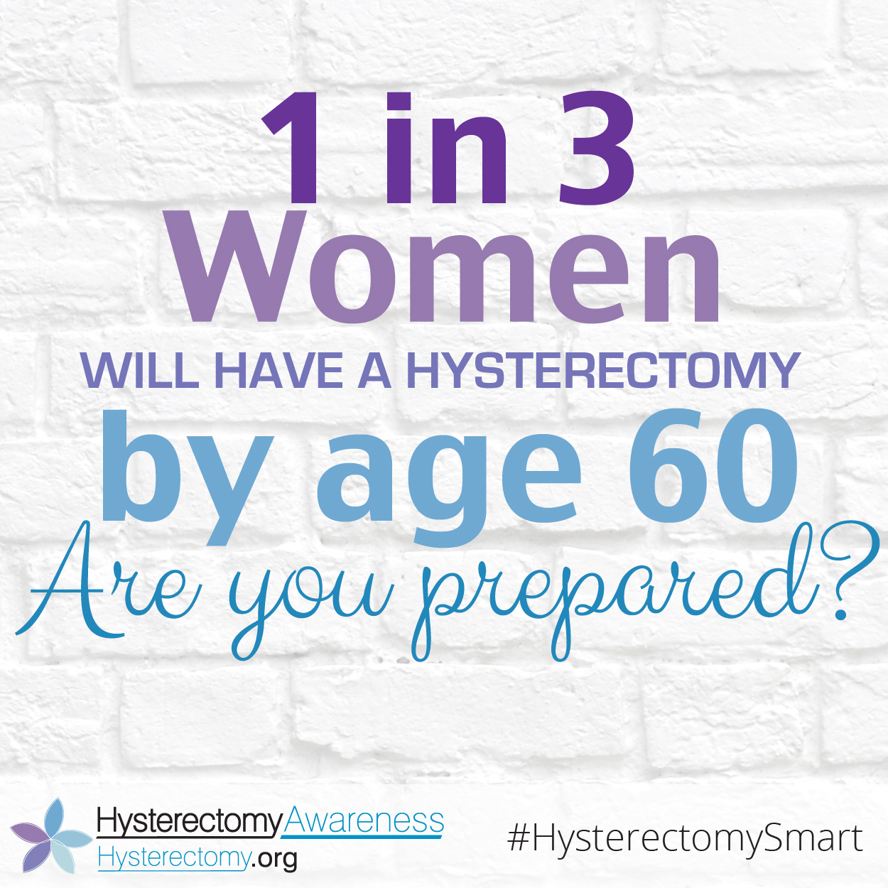 1 in 3 Women Will have a Hysterectomy by Age 60 #HysterectomySmart