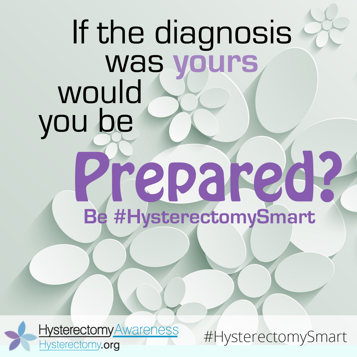 If the Diagnosis was yours would you be prepared? #HysterectomySmart