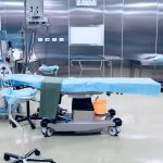 operating table in operating or surgery room