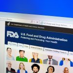 screenshot of Food and Drug Administration website
