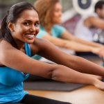 young indian women in a gym class